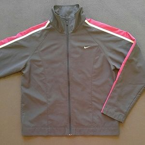 Nike Gray and Pink Track Jacket